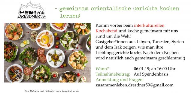 Über den Tellerrand - gemeinsam orientalische Gerichte kochen am 06.12.19