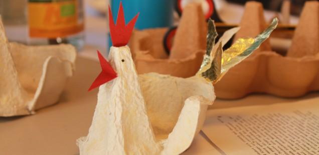 3. Osterbasteln aus Recyclingmaterialien am Donnerstag, 17.03.2016