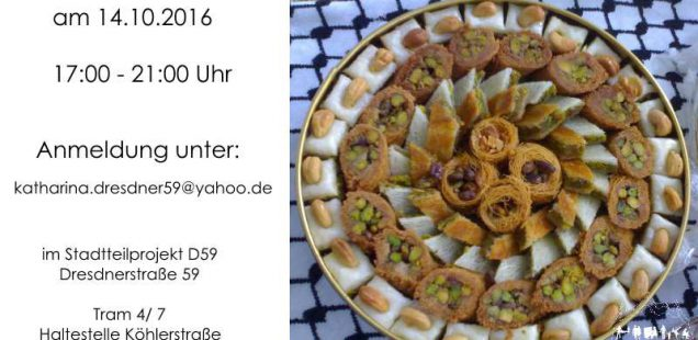 Vorankündigung- Syrisch kochen 14.10