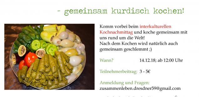 Über den Tellerrand: gemeinsam Kurdisch kochen am 14.12.18 ab 12.00
